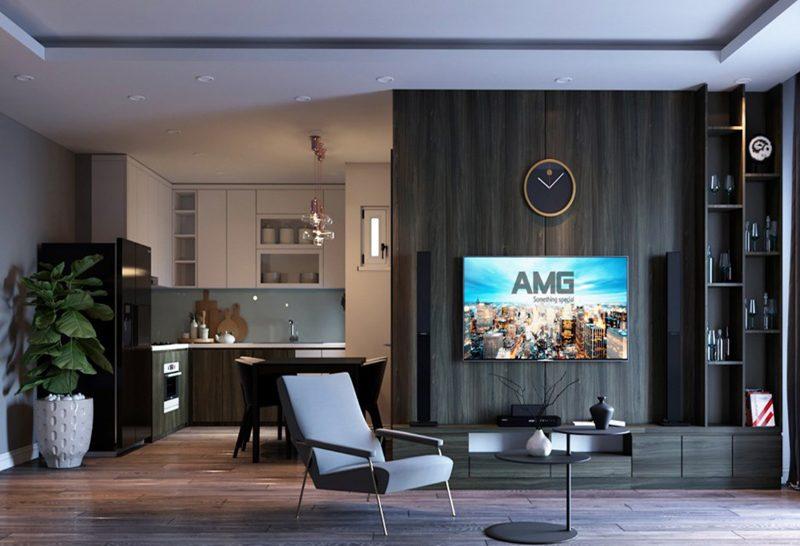 thiết kế nội thất phòng khách Mỗ Lao