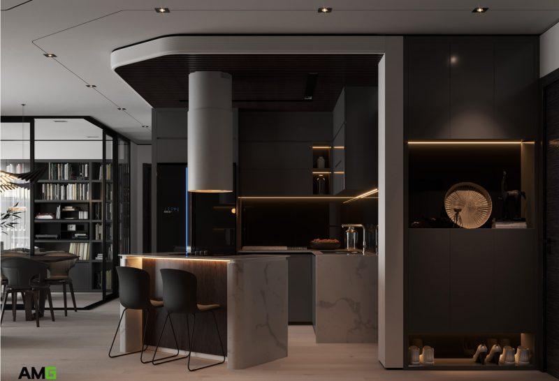 thiết kế bếp ăn chung cư