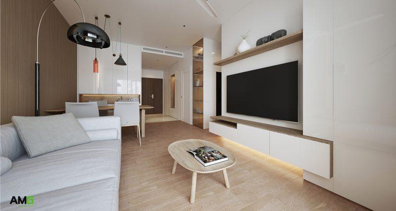 thiết kế nội thất chung cư Imperia Sky Garden phòng khách