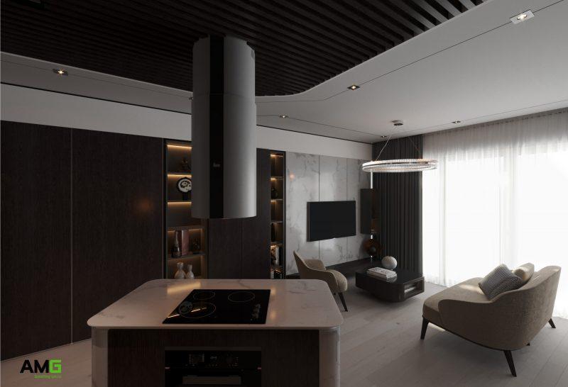 nội thất phòng khách chung cư Dcapital