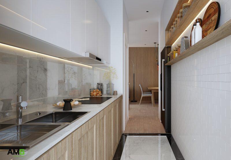 Thiết kế phòng bếp chung cư hiện đại