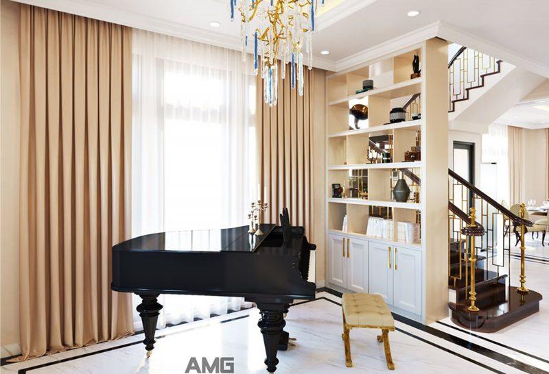 thiết kế nội thất biệt thự Vinhomes Long Biên