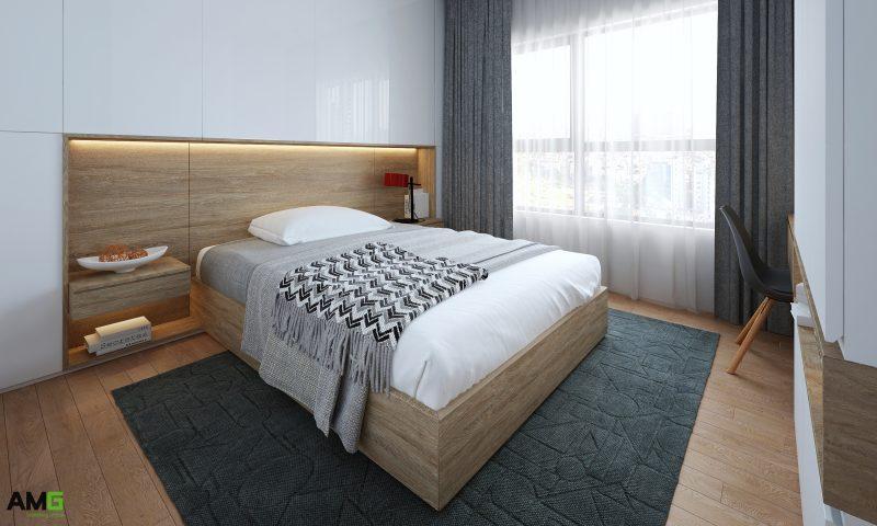 thiết kế nội thất chung cư Imperia Sky Garden phòng ngủ