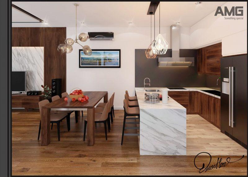 phòng bếp nhà phố