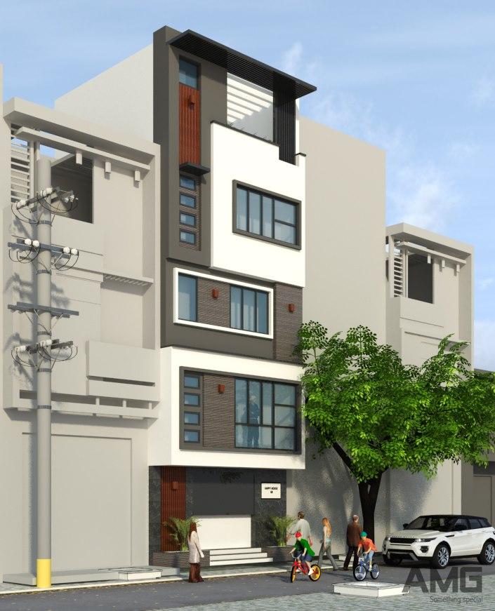 kiến trúc nhà phố Long Biên