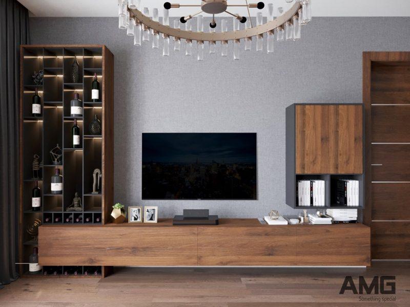 Thiết kế tủ ti vi, tủ trưng bày cho phòng khách