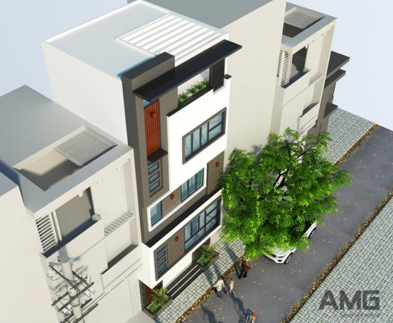 kiến trúc nhà Long Biên 5 tầng