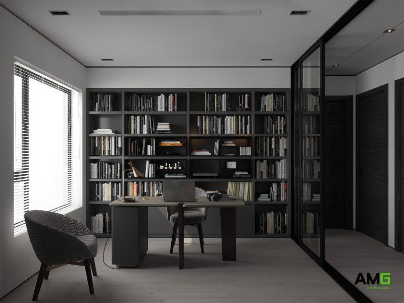 Thiết kế phòng sách - phòng làm việc tại chung cư