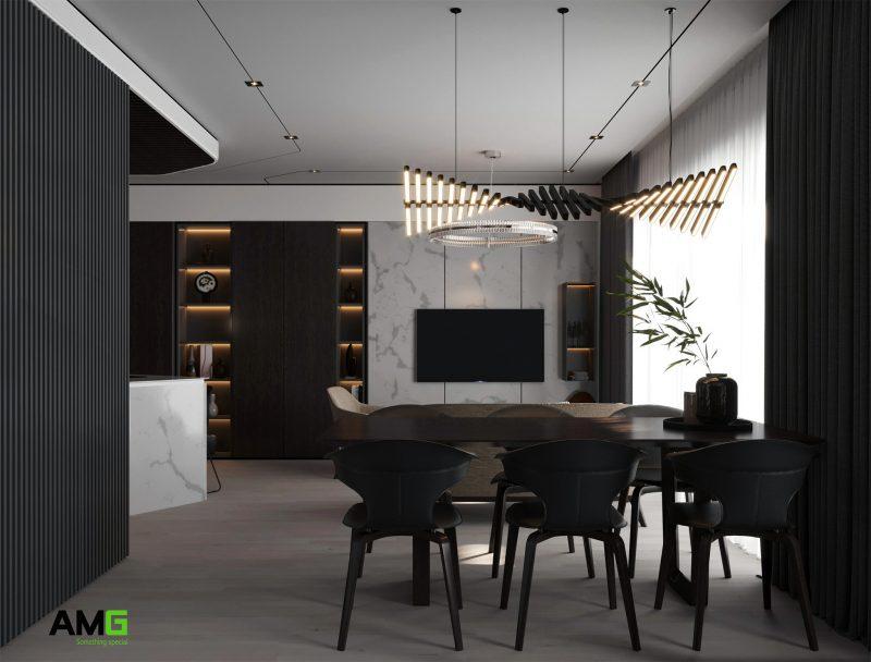 Thiết kế bàn ăn chung cư