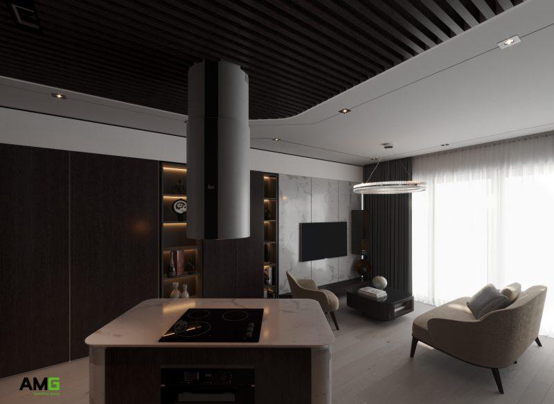 Thiết kế nội thất phòng khách đương đại
