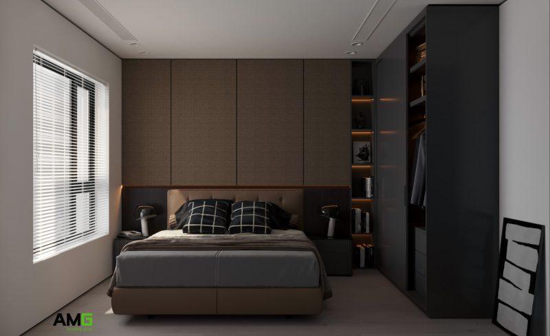 Thiết kế nội thất phòng ngủ chung cư độc đáo