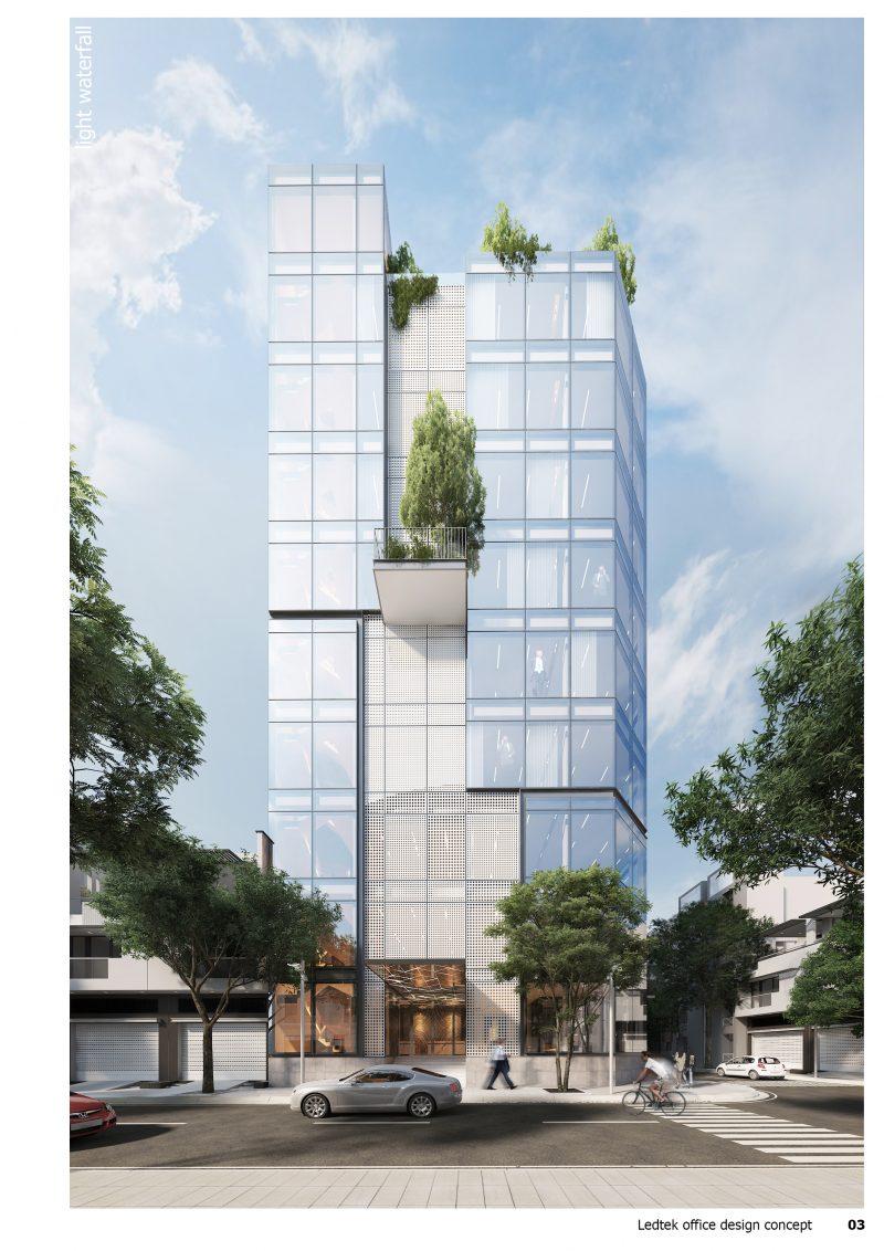 thiết kế kiến trúc tòa nhà văn phòng hiện đại