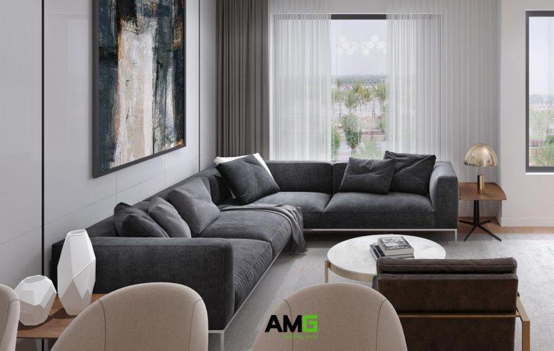 Thiết kế sofa phòng khách biệt thự