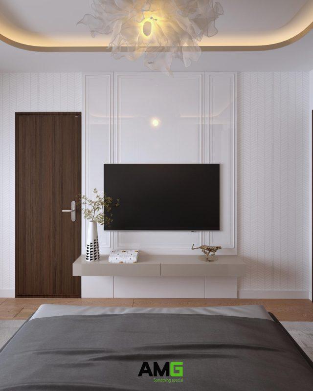 Thiết kế phòng ngủ có tivi