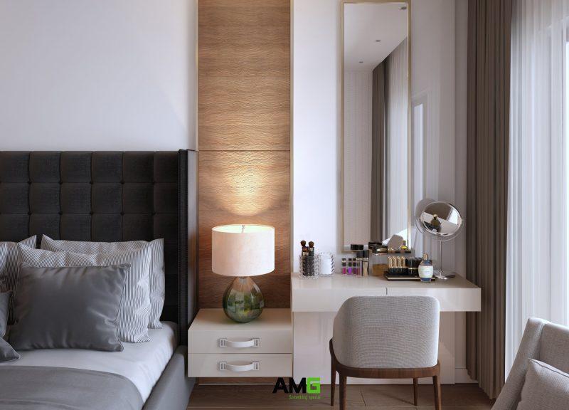 Thiết kế nội thất tap đầu giường và bàn phấn