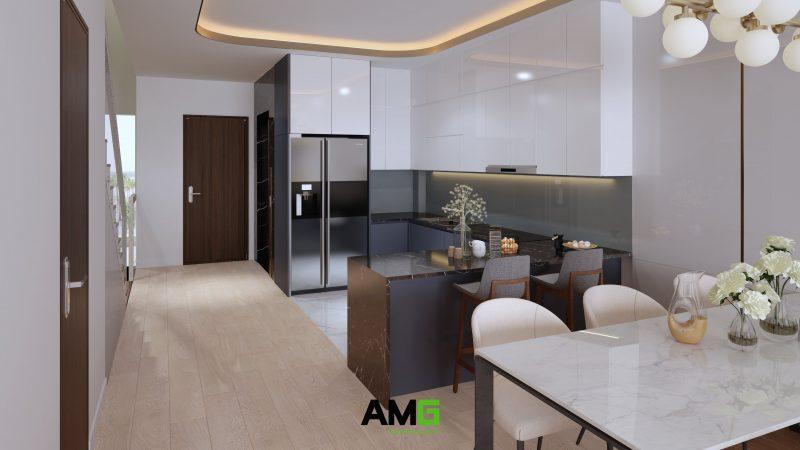 Thiết kế nội thất khu bếp ăn hiện đại
