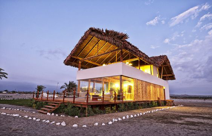 kiến trúc nhà đẹp Quảng Ninh nhà mái lá