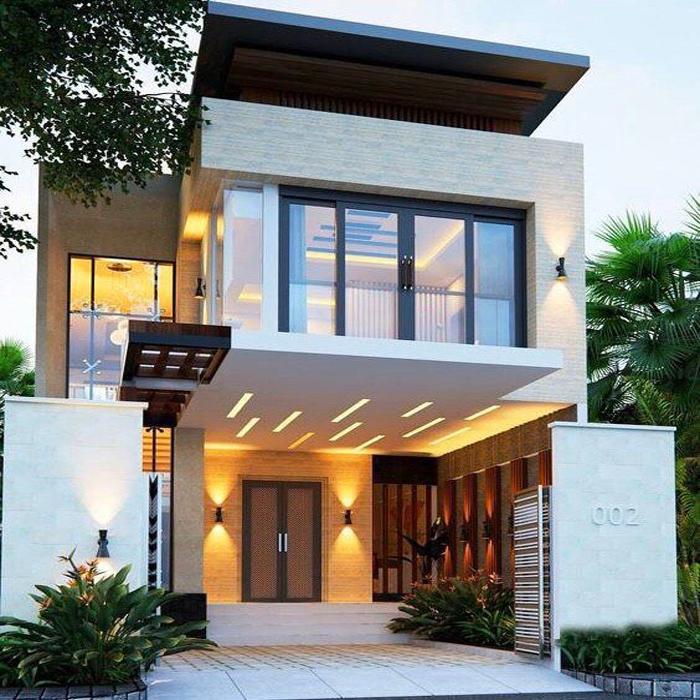 kiến trúc nhà đẹp Quảng Ninh nhà 2 tầng