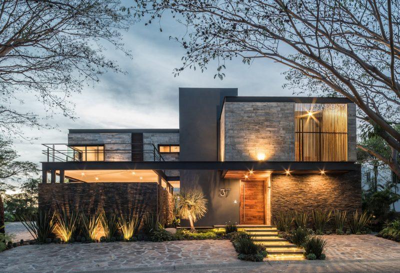 thiết kế kiến trúc biệt thự 2 tầng