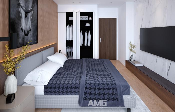 bố cục thiết kế nội thất phòng ngủ