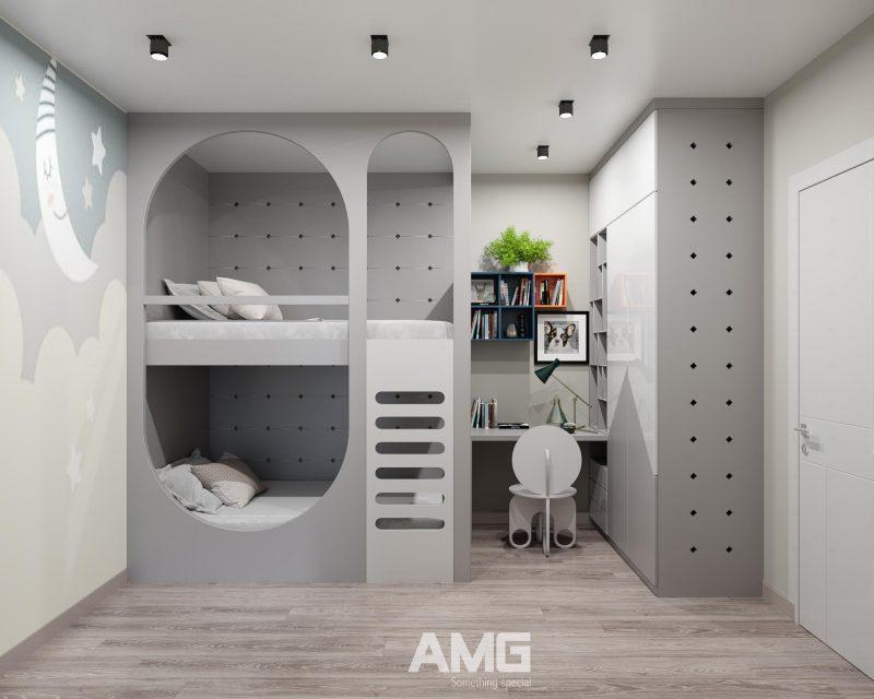 Thiết kế phòng ngủ đôi cho bé
