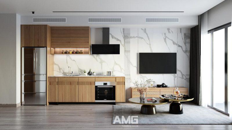 Thiết kế nội thất phòng bếp chung cư