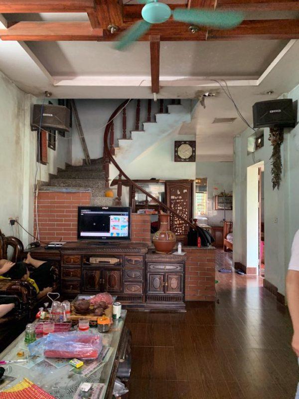 phòng khách cải tạo nhà ống 1 tầng cũ