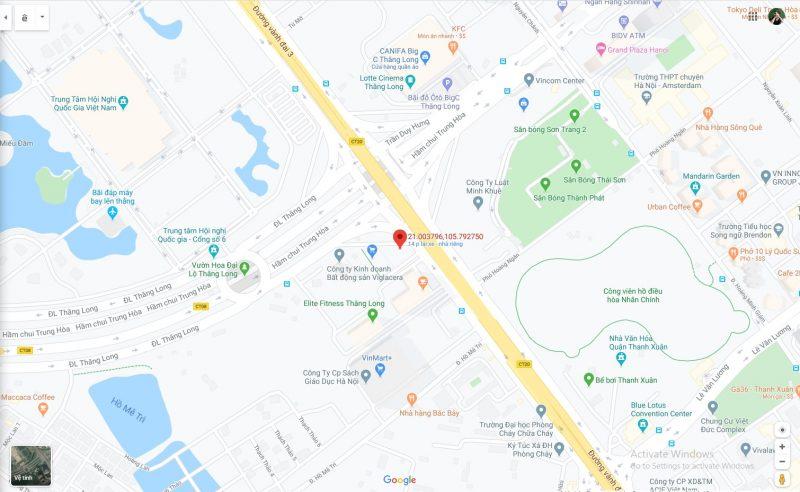 bản đồ vị trí làm việc amg