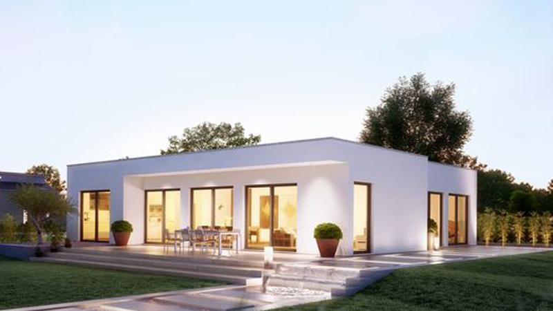 kiến trúc nhà mái bằng