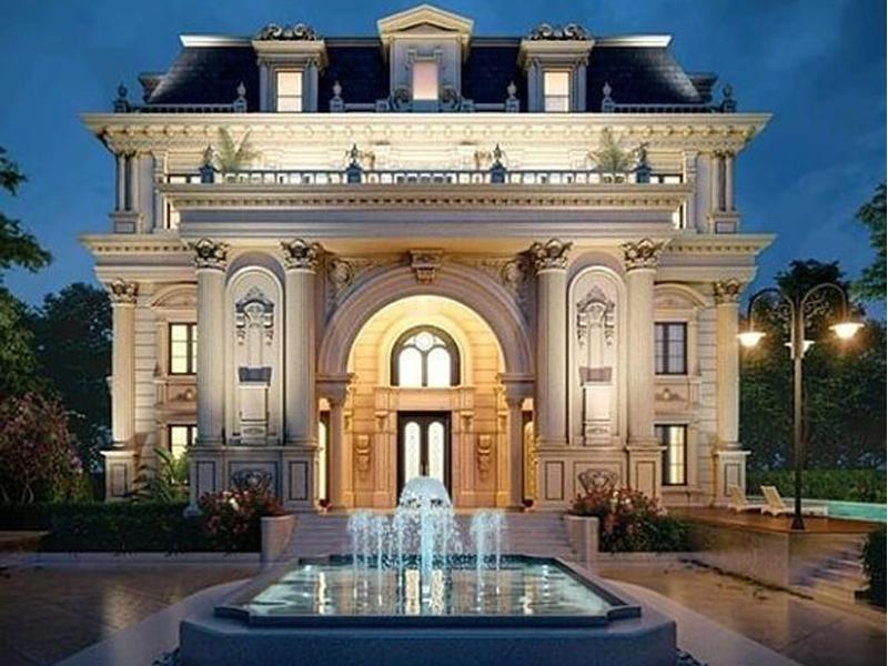 kiến trúc đẹp tại Kim Bảng biệt thự cổ điển