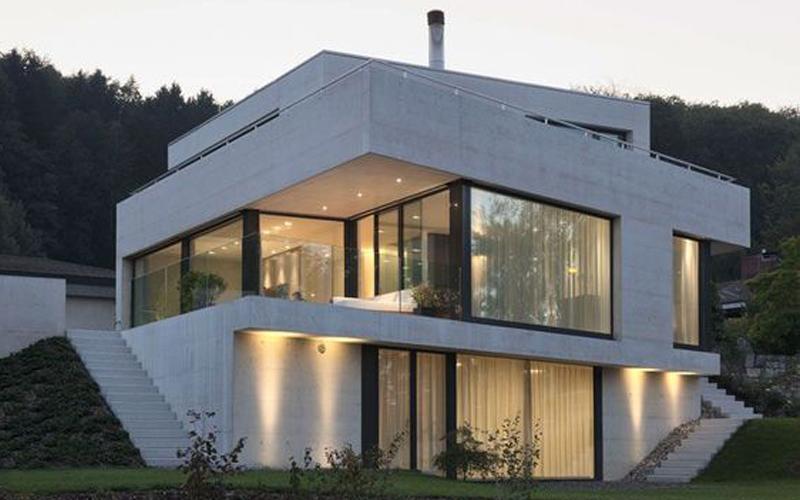 kiến trúc nhà đồi