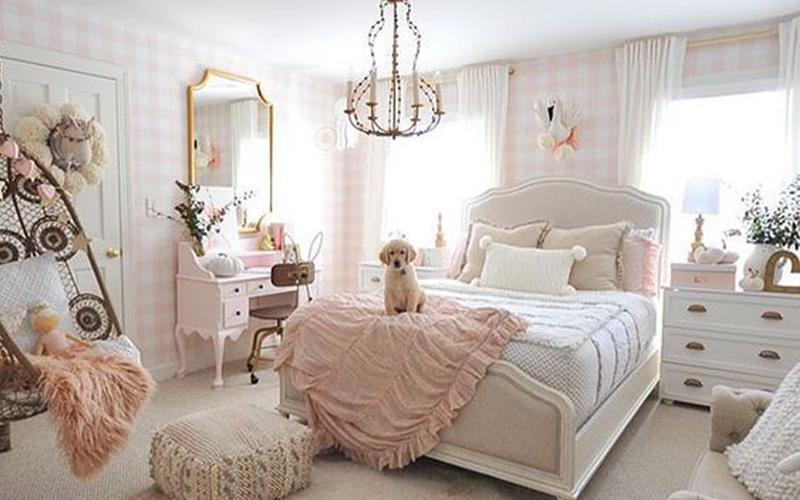 nội thất phòng ngủ cho bé gái đẹp cá tính