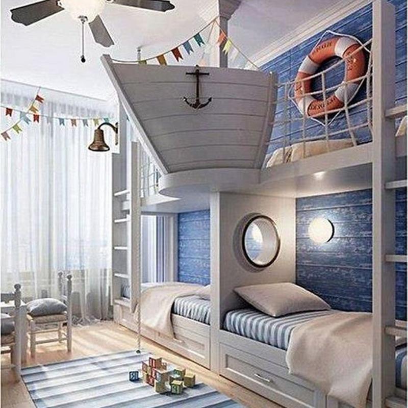 nội thất phòng ngủ bé trai thuyền trưởng
