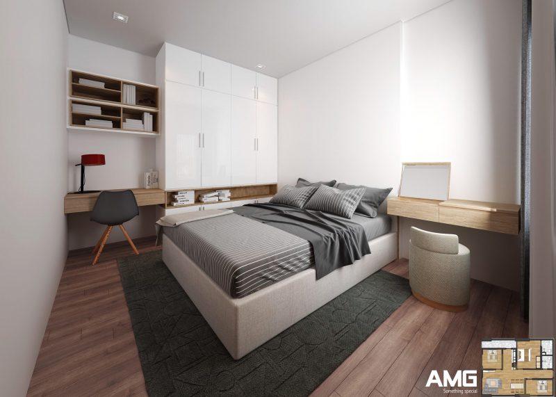 nội thất phòng ngủ chung cư x2 đại kim