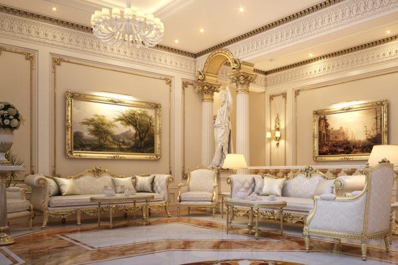 Thiết kế nội thất biệt thự cổ điển sang trọng đẳng cấp 2020