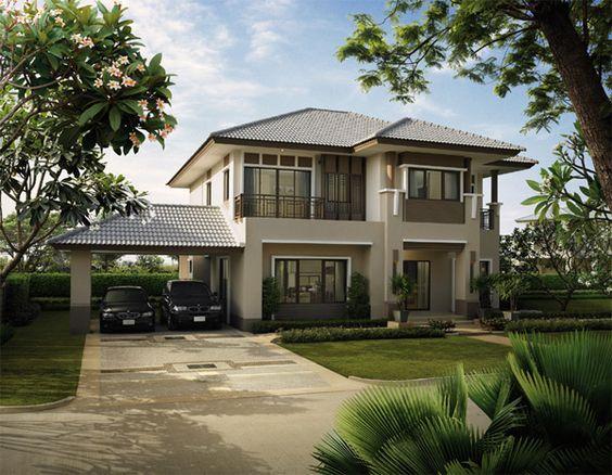 Thiết kế nhà 2 tầng mái thái