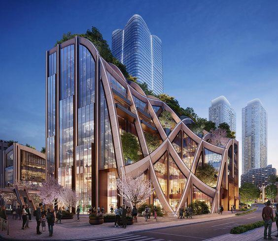 Thiết kế kiến trúc tòa nhà văn phòng đẹp, đẳng cấp mang đậm dấu ấn