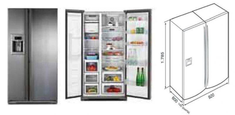 kích thước tủ lạnh teka 615l