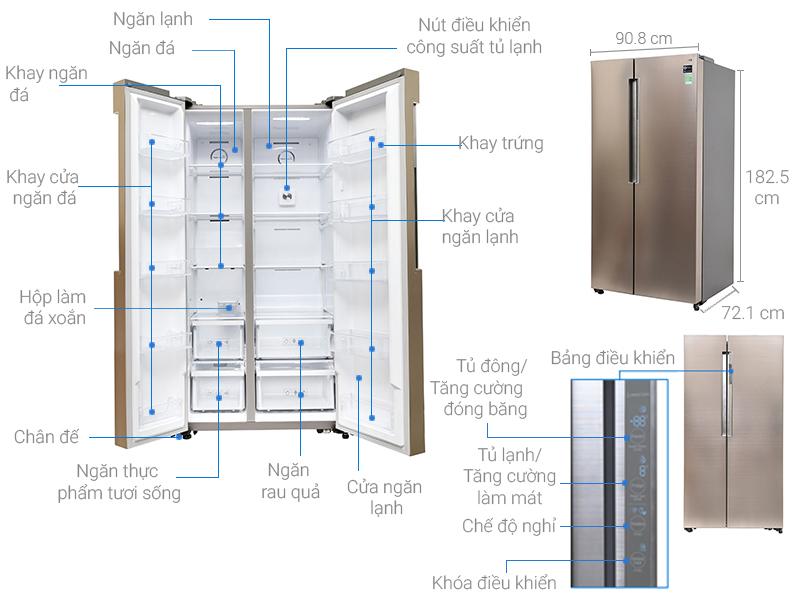 tủ lạnh LG 641l