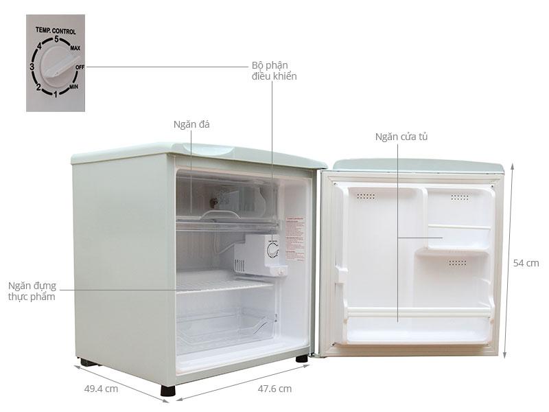 tủ lạnh 1 cánh mini 50 lít