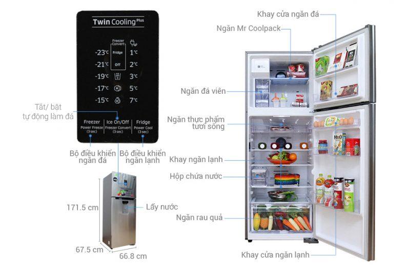tủ lạnh 1 cánh samsung 380 lít