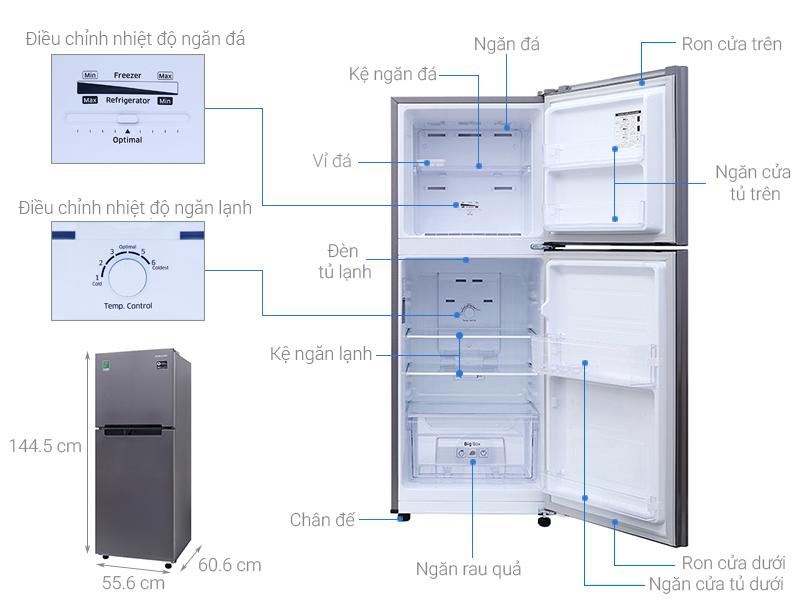 tủ lạnh sam sung 1 canh 208