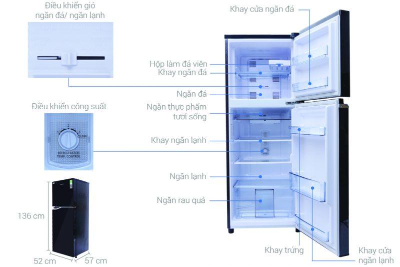 tủ lạnh panasonic dung tích 118 lít