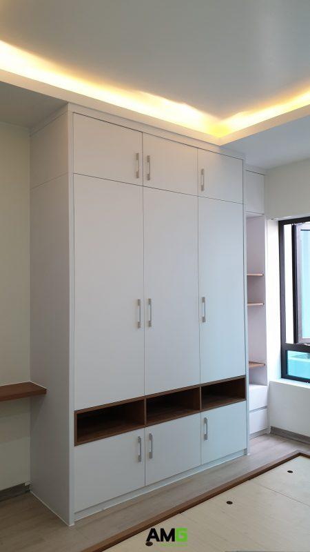thi công lắp đặt nội thất phòng ngủ biệt thự ecopark