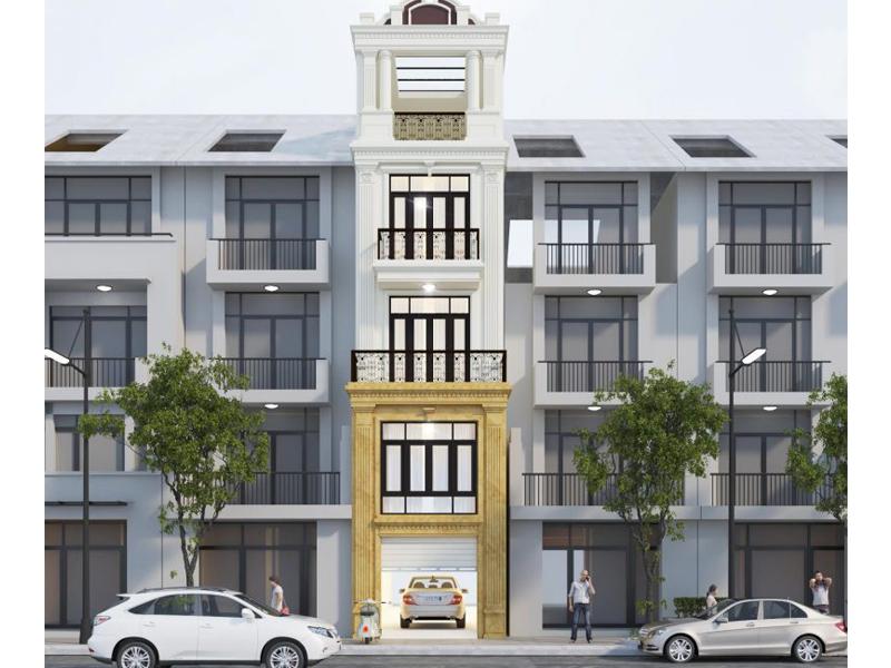 Thiết kế nhà phố tân cổ điển 5 tầng