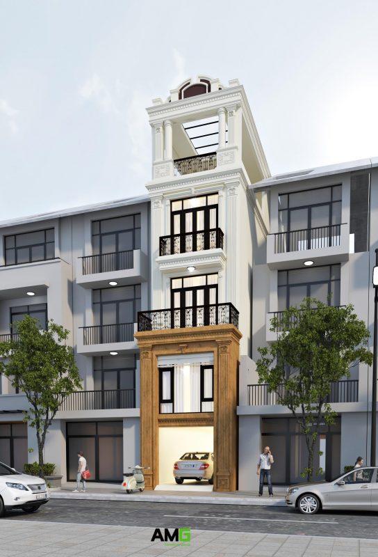 Giới thiệu mẫu thiết kế nhà ống tân cổ điển đẹp tại Nam Định