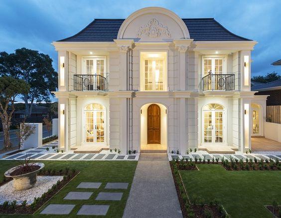 Thiết kế kiến trúc biệt thự 2 tầng tân cổ điển đẹp ở Hà Nam