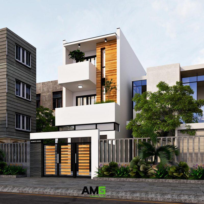 Thiết kế kiến trúc nhà ống hiện đại Nam Định chi phí thấp