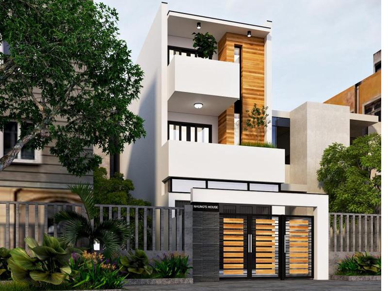 Thiết kế kiến trúc nhà ống phong cách hiện đại tại Nam Định, tiết kiệm chi phí