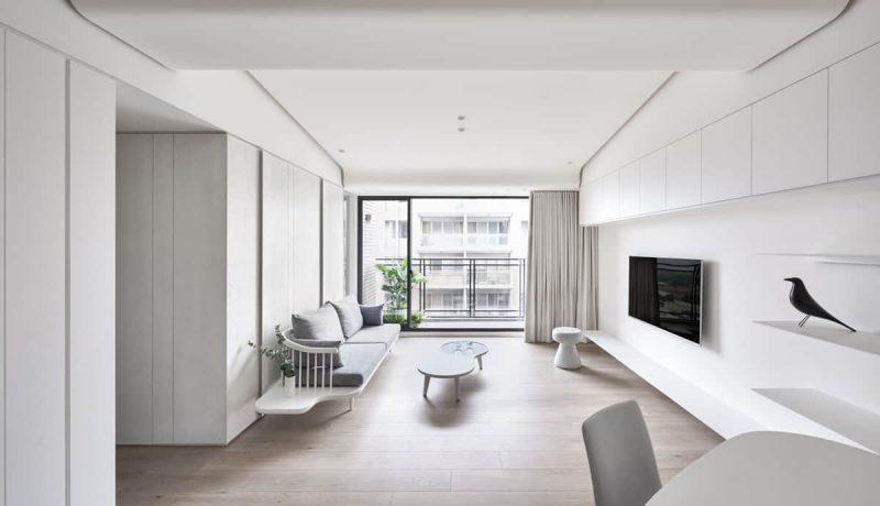 Thiết kế nội thất phòng khách theo phong cách tối giản ecorivers ecopark